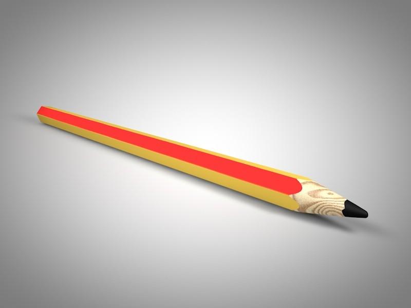Render modelo 3D lápiz