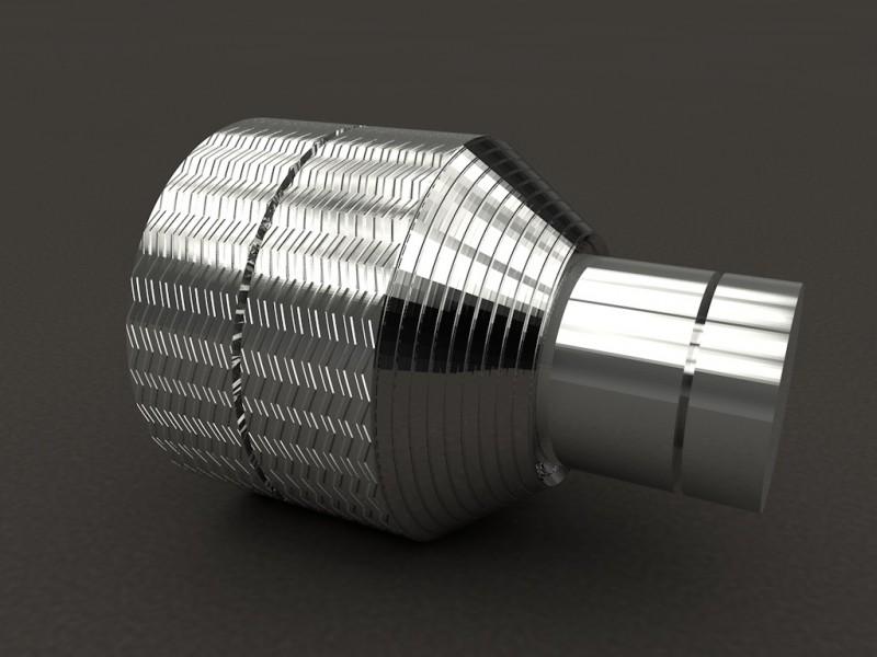 Render model 3D peça metàl·lica