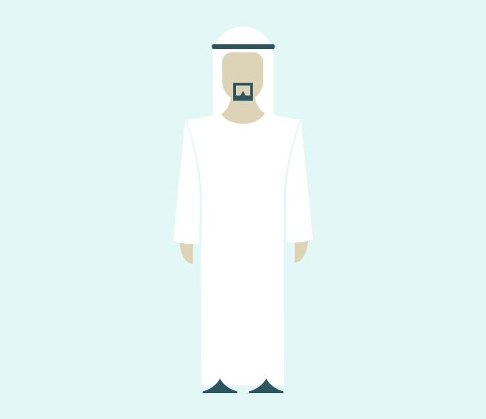 Personaje hombre árabe