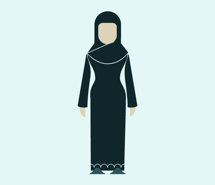 Personaje mujer árabe