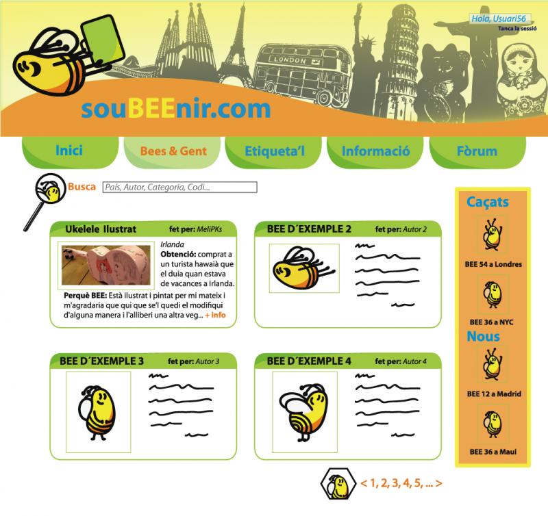 Pantalla Bees